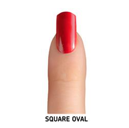 square oval nail shape