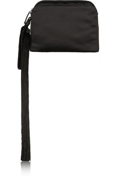 BLACK LONG TASSLE BAG