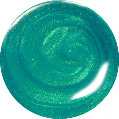 METALLIC GREEN NAIL POLISH SWATCH