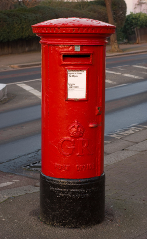 DEFINITELY RED POST BOX