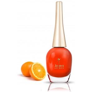 vibrant orange nail polish
