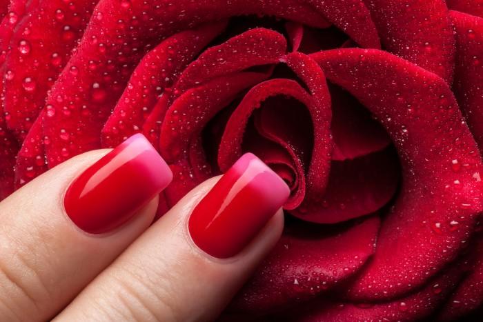 red nail polish pink nail polish
